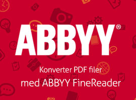 Konverter PDF filer med ABBYY FineReader