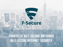 Fornyelse av F-Secure Antivirus og F-Secure Internet Security