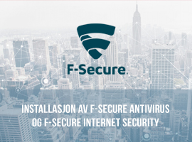 Installasjon av F-Secure Antivirus og F-Secure Internet Security