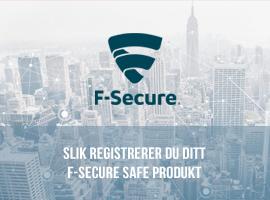 Slik registrerer du ditt F-Secure SAFE produkt